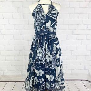 Modcloth Long Floral Handkerchief Dress I 1X
